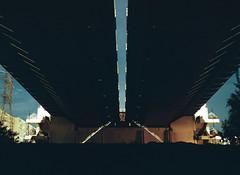 Moscow. Under the bridge (matoos77) Tags: smena8m film analog kodak colorplus 35mm urbanscape nightscape night