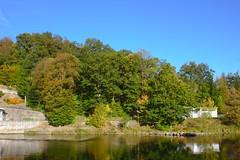 IMG_5954 (sebastiangrasegger) Tags: bäume wald herbstfarben farbspiel himmel wasser ilz oberilzmühle