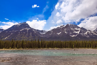 Athabasca River and Mountains
