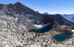 Upper and Lower Crystal Lakes, Sequoia National Park (benereshefsky) Tags: sequoia sequoianationalpark nationalpark mountains landscape nature california unitedstates usa mineralking alpine sierranevada mountainside snow sky mountain lake lakes
