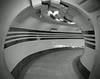 Underground Lines and Stripes! (RiverCrouchWalker) Tags: undergroundlinesandstripes linesandstripes smileonsaturday blackandwhite mono underground northernline london urban stripes lines tiles tunnel foottunnel moorgate tfl