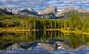 Fall at Sprague Lake (Amy Hudechek Photography) Tags: sprague lake reflection fall autumn morning clouds mountains trees rocky mountain national park water peaceful tranquil colorado amyhudechek