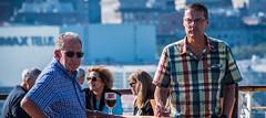 2017 - Montreal - Maasdam Happy Hour ? (Ted's photos - For Me & You) Tags: 2017 cropped montreal nikon nikond750 nikonfx quebec tedmcgrath tedsphotos vignetting montrealquebec two men duo couple pair sunglasses wineglasses pose posing bokeh buttons shirt shirts