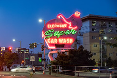 Elephant Super Car Wash Neon Sign, Seattle, Washington, USA (takasphoto.com) Tags: apsc america color eeuu estadosunidos fuji fujixt1 fujixt1fujifilm fujifilm fujinon fujinonlensxf18135mmf3556rlmoiswr fujinonxf18135mmf3556rlmoiswr lens licht light lighting mirrorless mirrorlesscamera neon neonsign northamerica pacificnorthwest photography pink rosa rose seattle sign signage street streetphotography usa unitedstates unitedstatesofamerica westcoast xmount xt1 xtranscmosii xtransii xf18135 アメリカ合衆国 ストリートスナップ ネオン ピンク フジノン フジフィルム ミラーレス 北米 桃色 照明 米国 美国 西海岸