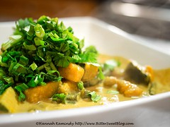Sound & Savor - Pumpkin Curry (Bitter-Sweet-) Tags: vegan vegetarian meatless california oakland eastbay bayarea chef philipgelb soundsavor restaurant finedining popup underground dinner familystyle meal healty jamaican trinidad caribbean island spice savory curry spicy hot pumpkin coconut stew hearty comforting herbs