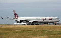 Qatar Airways A340-642 A7-AGA / CDG (RuWe71) Tags: qatarairways qrqtr qatari qatar doha stateofqatar airbus airbusa340 a340 a346 a340600 a340642 airbusa340600 airbusa340642 a7aga msn740 fwwcp parisairport parischarlesdegaulle parischarlesdegaulleairport charlesdegaulleairport parisroissy aéroportsdeparis cdg lfpg planes airport aviation spotter aéroport avions aéronefs engines landing greysky vliegtuig luchthaven spotting aeroplane overcast clouds airliner dull jetliner flugzeug flughafen planespotting runway widebody winglets heavy aeropuerto aviónes avgeek planespotter ruwe71 aviationphotography civilaviation canon canonphotography