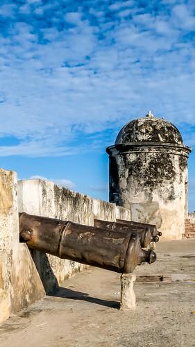 Gun battery at Baluarte de Santo Domingo