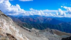Widok z obozu 2 na dolinę Adishi i Ushguli. (Tomasz Bobrowski) Tags: wspinanie mountains gruzja kaukaz góry tetnuldi caucasus georgia climbing