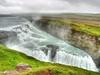 The magnificent Gullfoss (Digidoc2 - BACK) Tags: lyngdalsheidiheath gullfoss iceland waterfall cliffs spray green grass clouds landscape water sky mist