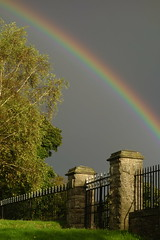 Rainbow and Railings (Dave Roberts3) Tags: weather rainbow wales newport gwent light fence stwoolos