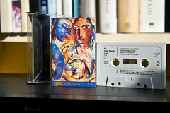 Cassette Culture #15: Alchemy (09739) (The_Kevster) Tags: cassette tape japan davidsylvian alchemy ryuchisakamoto prerecorded virgin nakamichi dragon shadows light bokeh books 1985 stevejansen holgerczukay jonhassell music avantgarde dslr nikon nikond3300 artwork