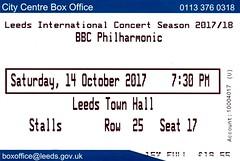 BBC Philharmonic Orchestra @ Leeds Town Hall 14/10/2017 (stillunusual) Tags: bbcphilharmonicorchestra orchestra leedstownhall leeds classical classicalmusic recital concert live livemusic beethoven grieg sibelius ticket 2017