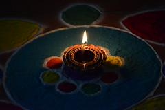 Happy Diwali ! (shubhi_) Tags: rangoli diya diwali deepawali festival indian india color colors happy