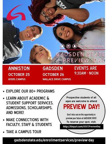 Gadsden State Preview Day Flyer