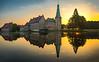Castle Raesfeld (Acobaleno) Tags: olympus124028 schloss olympusomdem1 olympus nrw raesfeld germany landscape spiegelung reflextion castle sonnenaufgang sunrise sunset