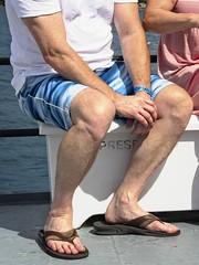 Passenger & Passenger detail (LarryJay99 ) Tags: male guy dude legs flops toes people fingers hairyman men man guys dudes toies flipflops barefeet hairylegs cruuise hands hairyarms cruise seated tourist