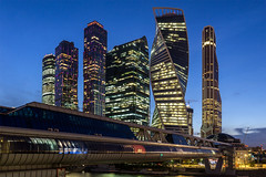 New Moscow (Maciej Dusiciel) Tags: moscow russia skyline skyscraper panorama city urban night longexposure architecture modern contemporary blue hour
