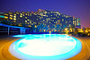 Hot evening by the pool, Art Rotana Amwaj Islands, Bahrain (Andrey Sulitskiy) Tags: bahrain amwaj