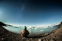 Alone in Iceland (Zeeyolq Photography) Tags: iceland man adventure alone water vatnajökull selfie jökulsárlón lake froid iceberg ice austurland islande is