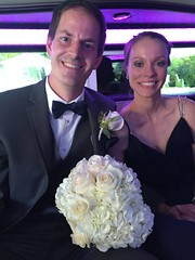 """Derek and Christie in the Limo at Emily and Joe's Wedding • <a style=""""font-size:0.8em;"""" href=""""http://www.flickr.com/photos/109120354@N07/37900127136/"""" target=""""_blank"""">View on Flickr</a>"""