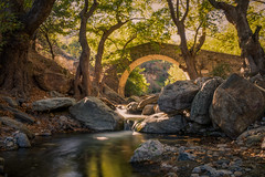 arched stone bridge.. (ckollias) Tags: archedbridge beautyinnature bridge day forest nature nopeople outdoors river rockobject scenics stonebridge tranquility tree water