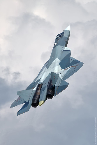 T-50 (T-50-2), the prototype of the fifth generation fighter, Su-57