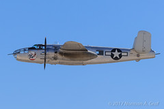 "North American B-25J Mitchell ""Photo Fanny"" (Norman Graf) Tags: aircraft 2016nellisafbopenhouse airshow b25 b25j photo fanny airplane northamerican photofanny 4430423 aviationnation bomber klsv mitchell n3675g plane wwii warbird"