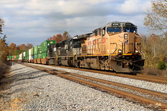 NS 285 (Steve Hardin) Tags: ac4400cw unionpacific railway railroad railfan norfolksouthern intermodal autorack train silvercreek georgia