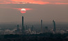 Through Layers Of Grey (Rob Pitt) Tags: helsby hill sunset stanlow misty cheshire rob pitt photography chimney