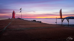 Lighthouse-Sunset (Stahlinho) Tags: 2017 italien italy rx100 reise toskana travel urlaub wasser mediteran meer strand tuscany lighthouse leuchtturm sunset sonnenuntergang water