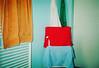 (Anne-Sophie Landou) Tags: film interior bathroom colours blue red orange green flash 35mm canon mundane stilllife