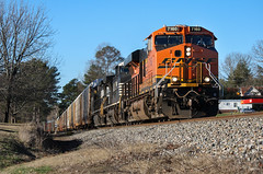 Greenville District Manifest (weshendrix) Tags: norfolk southern ns train railfan railroad railfanning rr freight manifest tracks alto georgia ga crossing piedmont division greenville district diesel engine locomotive vehicle ge es44c4 bnsf burlington northern santa fe winter