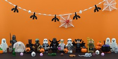 👻A Star Wars Halloween🎃 (Alex THELEGOFAN) Tags: halloween starwars darthvader emperorpalpatine kyloren supremeleader lego legography minifigure minifigures minifig minifigurine minifigs minifigurines movie monster lord sith darth party pumpkin jack jackolantern ghost spiderweb bats bat stormtrooper first order boba fett candy maul