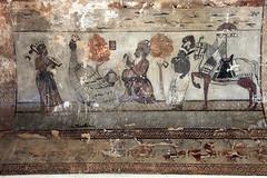 Winged Horse, Hindu Mural, Raja Mahal, Orchha, India (Mikey Stephens) Tags: wingedhorse hindumural rajamahal orchha india