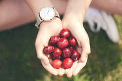 CHERRIES (justyna.karkus) Tags: teen girl woman hands cherries home summer memories motivation cluse watch converse love family sister colors nikon 50mm red nature