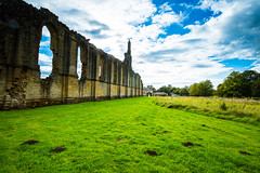You can visualise the huge size Byland Abbey must have been in its hayday. (Geordie_Snapper) Tags: autumn canon1635mm canon5d3 gaduatedfilters graduatednd4 landscape northyorkshire september sunnywithclouds