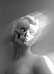 Beneath the surface (Tore Thiis Fjeld) Tags: damianhirst norway oslo ekebergparken sculpture alterego light details mono bw nikon d800 sigma50mmf14dghsmart art artwork anatomy angel theanatomyofanangel