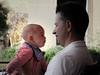 Candid of Baby & Father (spaetzle) Tags: camogli italy italianriviera candids strangers people fujifilmxt1 babies portrait