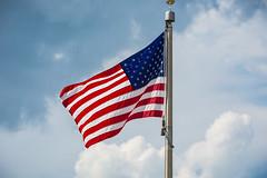 American Flag '17 (R24KBerg Photos) Tags: 2017 america usa unitedstates flag usflag patriotic oldglory us starsandstripes redwhiteandblue freedom clouds sky symbol