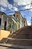 Steps of Calle Padre Pico (againandagain251) Tags: stepsofcallepadrepico santiagodecuba steepstaircase crisscross telegraphlines sunnyforecourt colourfulbuildings outofpuff