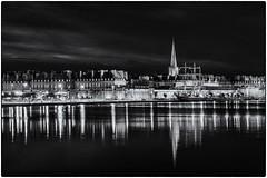 At home by night ! (bertranddorel) Tags: port noiretblanc blackwhite ville town saintmalo bretagne france boat city cityscape reflet reflection