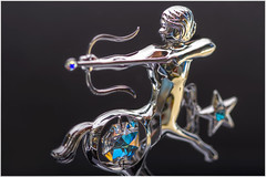 Macro Mondays – Zodiac (Haggis Hag) Tags: macromondays zodiac crystocraft sagittarius crystal ornament with swarovski elements canon 7d macro mondays 100 100mm f28 usm ef challenge theme