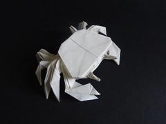 Crab designed by Hideo Komatsu [Hideo Komatsu challenge 46/50] (Orizuka) Tags: origami hideokomatsu hkchallenge crab