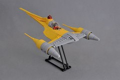 Naboo N-1 Starfighter V2 (Inthert) Tags: naboo lego moc ship star wars n1 phantom menace fighter royal starfighter front astromech sleek smooth