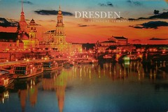 Countries - Germany - Dresden - Brulsche Terrasse (a_garvey) Tags: postcard postcrossing germany dresden architecture twilghit available rainy manythemesrr manythemesrrgroup2229