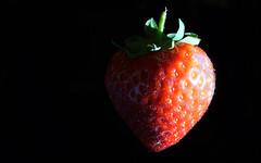 Sidelit Strawberry (steve_whitmarsh) Tags: macro closeup red strawberry fruit art macromondays sidelit nature