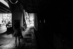 Getting through it (lorenzoviolone) Tags: bw blackwhite blackandwhite finepix fujix100s fujifilm fujifilmx100s ilfordpanfplus50 monochrome passage vsco vscofilm x100s darkness light mirrorless stranger street travel:southeastasia=2017 tunnel urban walking bangkok krungthepmahanakhon thailand fav10