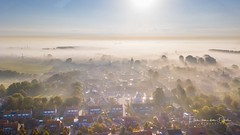 Waking up (Ellen van den Doel) Tags: mill zonsopkomst netherlands church nature mist fall september herfst goeree morning 2017 bomen mavic seizoen atmosphere village wolken flakkee pro sunrise season overflakkee nederland outdoor aerial clouds windmill sky trees zonsopgang kerk landschap sfeer myst dorp drone molen fog natuur landscape lucht dji