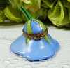 French Limoges Porcelain Peint Main Trinket Box Blue Trumpet Flower Bee Clasp (Donna's Collectables) Tags: french limoges porcelain peint main trinket box blue trumpet flower bee clasp