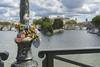 Pont des Arts Love Locks (clarsonx) Tags: paris france pontdesarts lovelocks laseine river pedestrianbridge water bokeh cityscape day clouds skyline pontneuf pontnuef